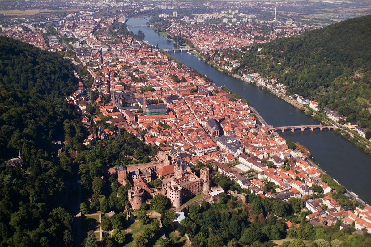 Aerial view of Heidelberg - Heidelberg University Hospital - مستشفى هايدلبرج الجامعي